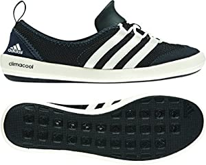 adidas Outdoor climacool Boat Sleek Water Shoe - Women's Black/Chalk/Dark Shale 8.5