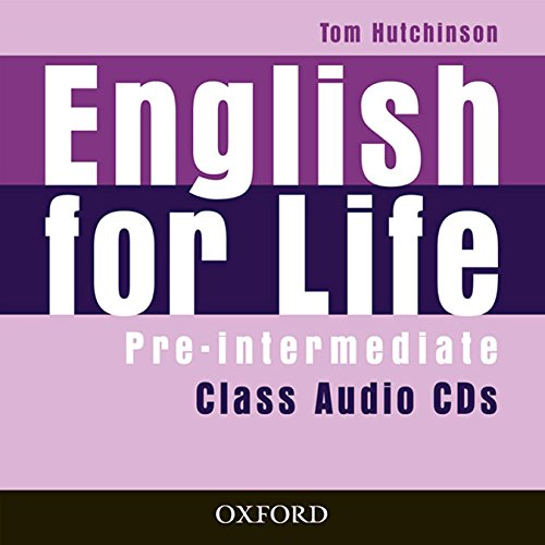 English for Life Pre-Intermediate: Class Audio CD