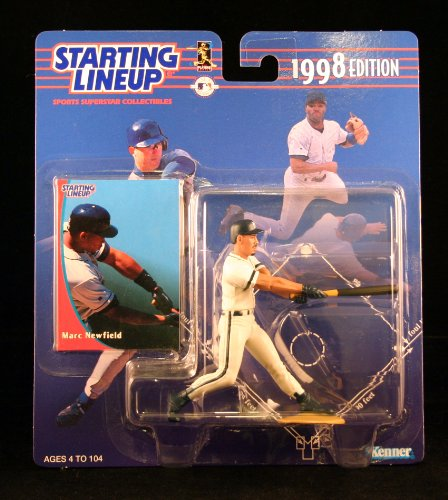 MARC NEWFIELD / MILWAUKEE BREWERS 1998 MLB Starting Lineup Action Figure & Exclusive Collector Trading Card