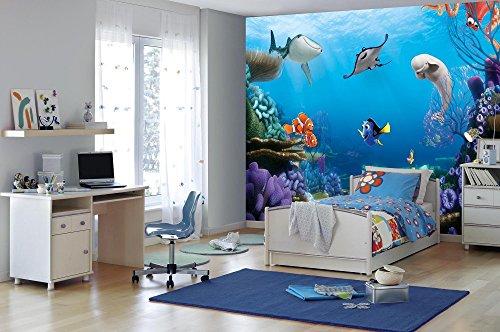 Fototapete Unterwasserwelt : Fototapete Finding Dory – Mit Dorie, Nemo und ihren Freunden