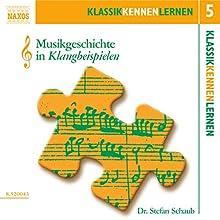 Musikgeschichte in Klangbeispielen (KlassikKennenLernen 5) Hörbuch von Stefan Schaub Gesprochen von: Stefan Schaub