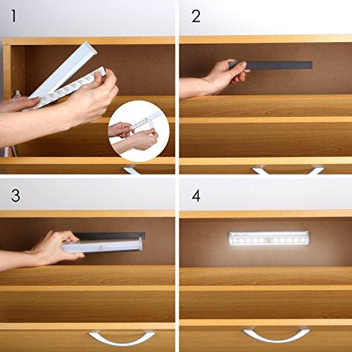 Aglaia luce led sensore di movimento lampada armadio 10 for Luce a led per casa