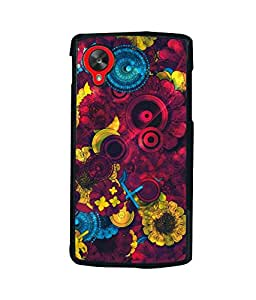 printtech Awesome Design Floral Pattern Back Case Cover for LG Google Nexus 5::LG Google Nexus 5 (2014 1st Gen)