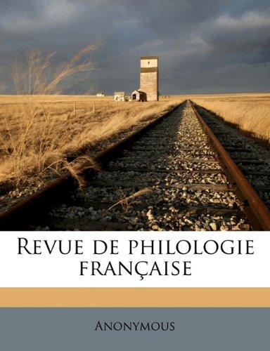 Revue de philologie français, Volume 14