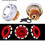 #7: AutoSun Projector Lamp Led headlight Lens projector ( High beam, Low Beam, Flasher function) For - All Bikes (Red And Wihte)