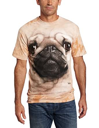 The Mountain Pug Face t-shirt Adult SMALL