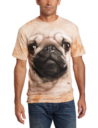 The Mountain Men's Pug Face T-shirt, Tan, Large