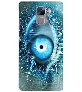 Evaluze colorful eye Printed Back Cover for HONOR 7