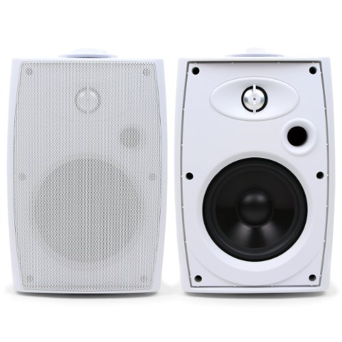 Micca Od-5P 5.25-Inch Pavilion Series 2-Way Indoor/Outdoor Speaker, White