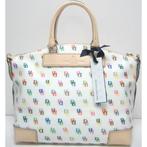 Amazon.com: Dooney & Bourke Shiny It Collection Satchel White