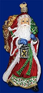 RADIANT SANTA CLAUS Glass Ornament Old World Christmas