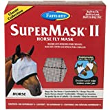 Farnam SuperMask II Classic Horse Fly Mask with Ears, Horse, Assorted