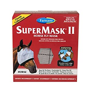 Farnam SuperMask II Horse Fly Mask Classic, Assorted, Horse