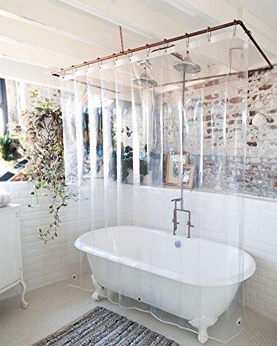 Best Liner - USA Made PEVA Shower Liner, PVC Free, Clear, Durable 9 Gauge, Antibacterial & Mildew Resistant, 72