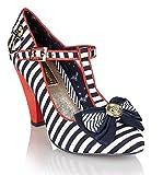 Babycham ,Kimberly Stripe Babycham - High Heeled Shoes Sandals - Navy