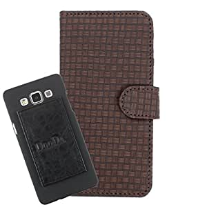 DooDa PU Leather Wallet Flip Case Cover With Card & ID Slots For Micromax Blaze MT500 - Back Cover Not Included Peel And Paste