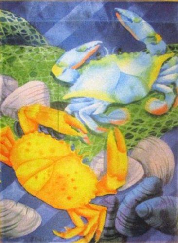 Fresh Crabs Nautical Garden Flag