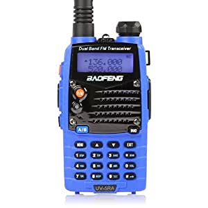 Baofeng UV-5RA Ham Two Way Radio 136-174/400-480 MHz Dual-Band DTMF CTCSS DCS FM 5W Amateur WalkieTalkie Transceiver *Blue*