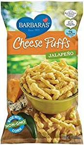 Barbara's Cheese Puffs, Jalapeno, 7 Ounce (Pack of 12)