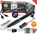 FabQuality Special Offer 1 DAY Only! Hidden Camera Spy Pen 720p BUNDLE 16GB SD, Real HD Voice Video & Image + SD Reader + Upgraded Battery + 5 ink Fills Inc! Executive Multifunction DVR A Perfect Gift