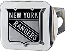 Fan Mats NHL New York Rangers Chrome Hitch Cover