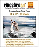 "11"" X 17"" 20 Sheets Premium Luster Inkjet Photo Paper [Office Product]"