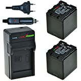 ChiliPower Panasonic VW-VBN260 Kit: 2x Battery (2600mAh) + Charger (EU Plug) for Panasonic HC-X800, HC-X900, HC-X900M, HC-X909, HC-X910, HC-X920, HC-X920M, HDC-HS900, HDC-SD800, HDC-SD900, HDC-SD909, HDC-TM900