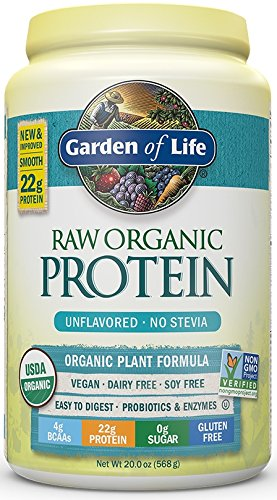 Garden of Life Organic Vegan Protein Powder with Vitamins and Probiotics - Raw Organic Protein Shake, Sugar Free, Unflavored, 20oz (568g) Powder (Beyond Organic Chocolate compare prices)