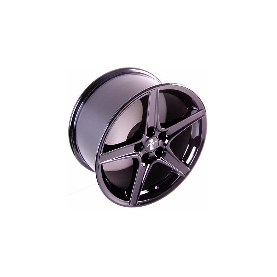 Ford Mustang Saleen Style Wheel Black Wheels Rims 1994 1995 1996 1997 1998 1999 2000 2001 2002 2003 2004 2005 94 95 96 97 98 99 00 01 02 03 04 05