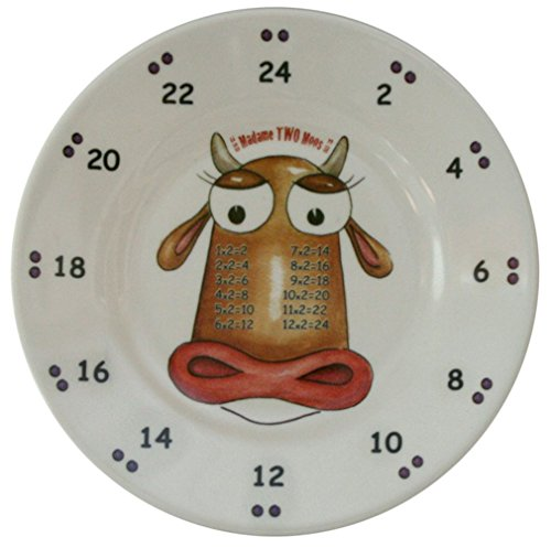 The Multiples Times Table Dinnerware Madame Two Moos 6.5 inch Melamine Plate
