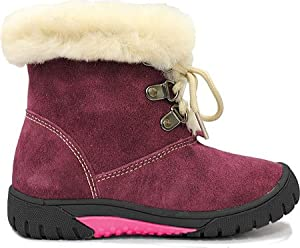 Lamo Girls' Bianca Boot,Plum,US 11 M