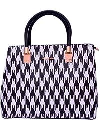 Ruff SAQIMA Black & White Casual Official Handheld Elegant Exclusive Formal Handbag Trendy Classic Sling Ladies...
