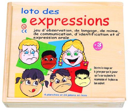 Sapin Malin - SM56289 - Jeu de Société - Loto des Expressions de Visage