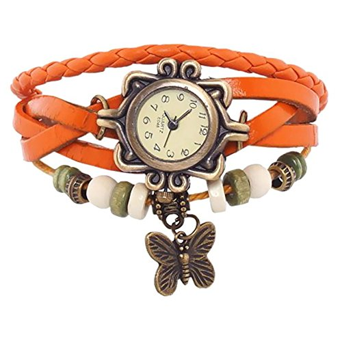 Xeno Butterfly Vintage Orange Women's Analog Watch
