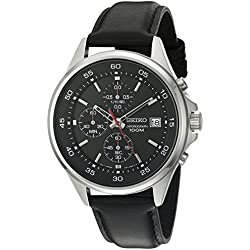 Seiko SKS495 Chronograph Men's Quartz Watch (Black)