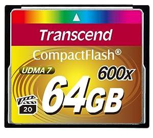 Transcend 64 GB CompactFlash (CF) Card - 1 Card