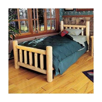 King Cedar Log Bed