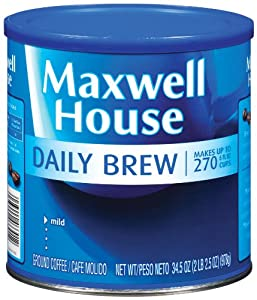 Maxwell House Daily Brew Ground Coffee, 34.5-Ounce Can (Pack of 2)