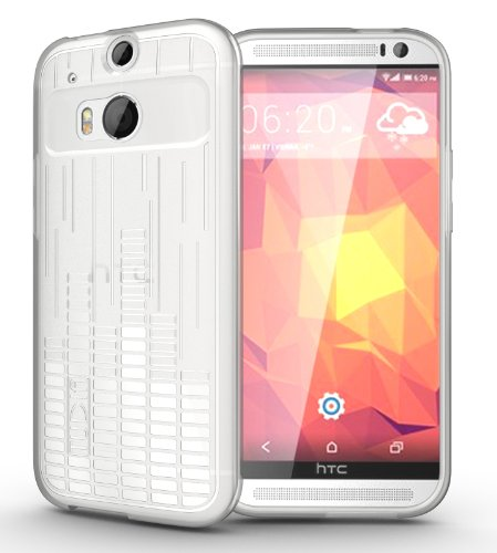 Tudia Ultra Slim Melody Tpu Bumper Protective Case For Htc One Plus (M8) (Clear)