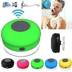 IBZ Bluetooth Waterproof Shower Speaker (Multicolor)