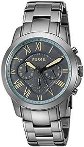 Fossil Men's FS5185 Grant Chronograph Gunmetal Stainless Steel Watch