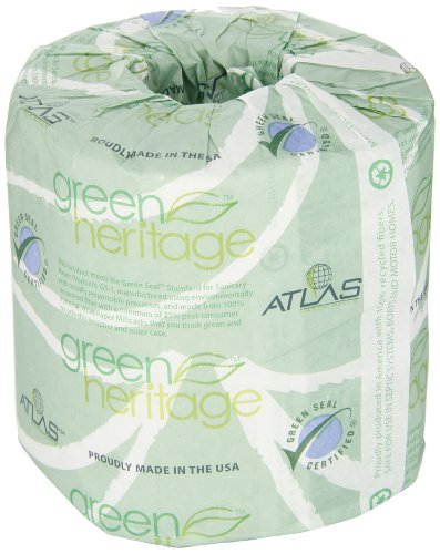 Atlas Paper Mills 280green Green Heritage Toilet Tissue 4 1 2 X 4 1 2 Sheets 2 Ply 500 Sheets