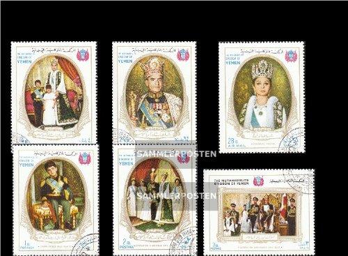 Jemen(Königreich) 567A-572A (kompl.Ausg.) gestempelt 1968 Krönung iranischen Kaiserpaares (Briefmarken für Sammler)