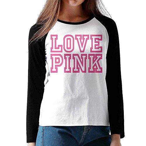lovegiftto-lady-womens-vs-secret-love-pink-o-neck-long-sleeve-raglan-tee-shirt-small