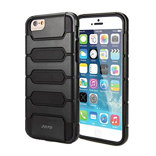 "JOTO iPhone 6S / iPhone 6 4.7 Case - Premium Armor Hybrid Bumper Cover Case (Dual Layer: Flexible TPU + Hard PC) for Apple iPhone 6S 4.7""/ iPhone 6 4.7"" (Black)"