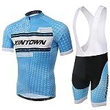 Spoz Men Blu Ray Cycling Gel Pad Bid Jersey Set XXL