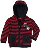 Salt & Pepper Baby - Jungen Kapuzen-Strickjacke, gestreift 3518138, Gr. 86, Orange (orange)