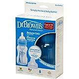 Dr Browns Natural Flow 8oz/240ml Pink/Blue Wide Neck Baby Bottle (TWIN PACK) (Blue)
