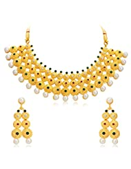 Sukkhi Glistening Gold Plated AD Necklace Set For Women