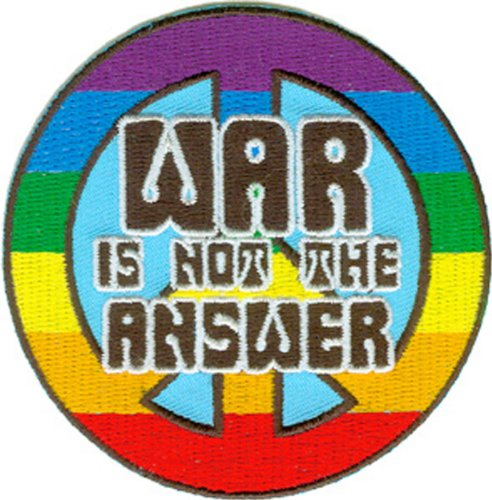 Application Peace Sign War Is Not The Answer Patch